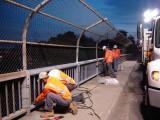 Bridge Crew at Night for Rail Repair